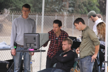 Producer Brian Morrow, Director Zachary Sluser, DP Jonathon Narducci, Key Grip Joseph Matarrese