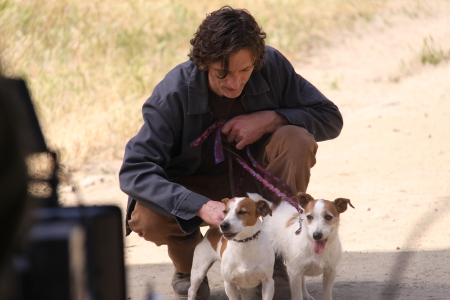 John Hawkes prepares with JJ and Harley